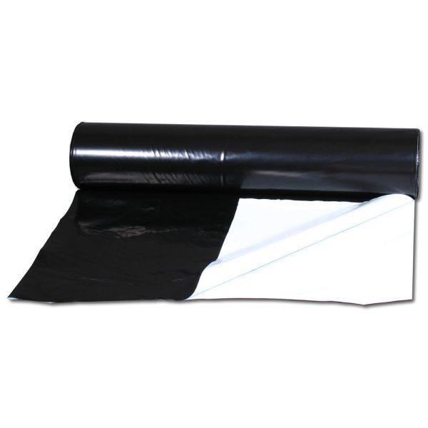Folija črno bela 1m