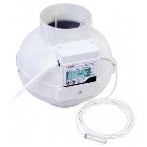 Ventilator EC 125LCD TEMP VLAGA