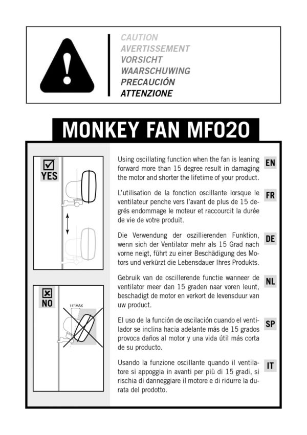 Secret Jardin – Monkey Fan 20W – Rotacijski