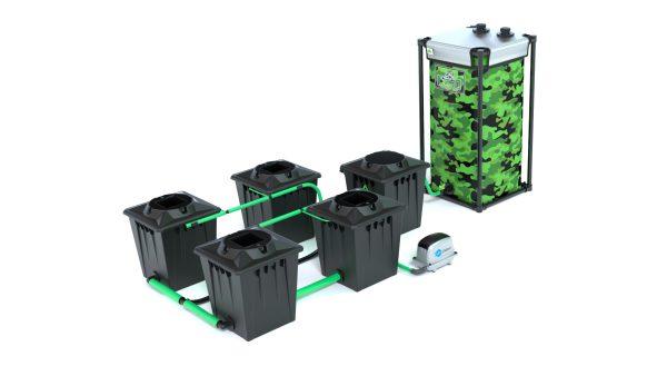Alien Hydroponics – Rdwc 20L Black Series – 4 Bucket System