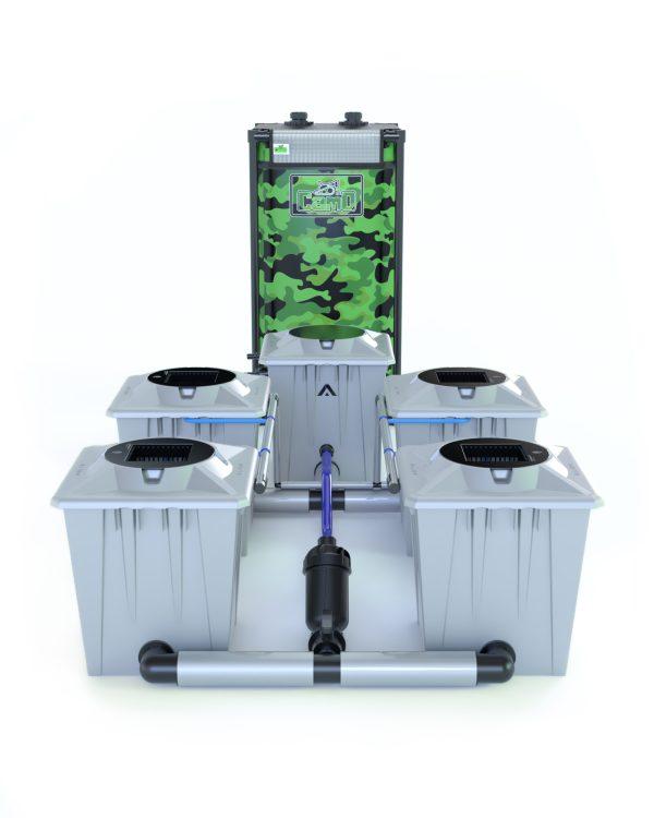 Alien Hydroponics – Rdwc 20L Pro Silver Series – 4 Bucket System
