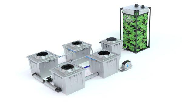 Alien Hydroponics – Rdwc 36L Pro Silver Series – 4 Bucket System