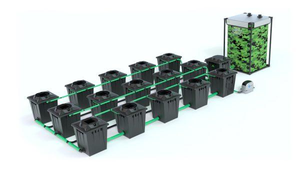 Alien Hydroponics – Rdwc 20L Black Series – 15 Bucket System