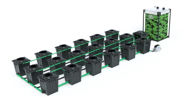 Alien Hydroponics – Rdwc 20L Black Series – 18 Bucket System