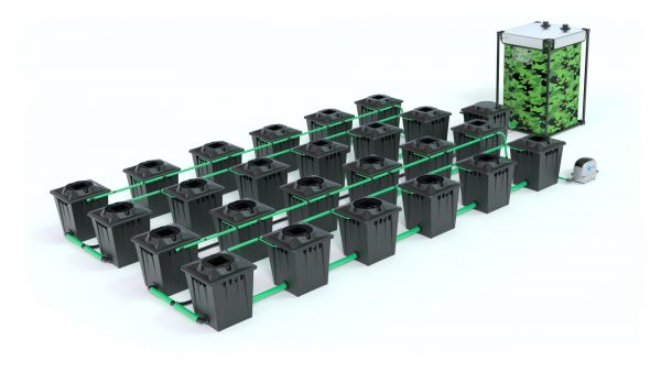 Alien Hydroponics – Rdwc 20L Black Series – 24 Bucket System
