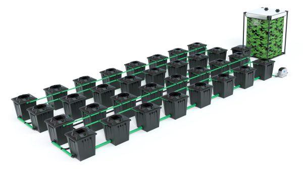 Alien Hydroponics – Rdwc 20L Black Series – 32 Bucket System