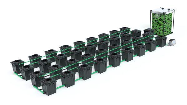 Alien Hydroponics – Rdwc 20L Black Series – 36 Bucket System