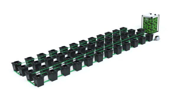 Alien Hydroponics – Rdwc 20L Black Series – 48 Bucket System