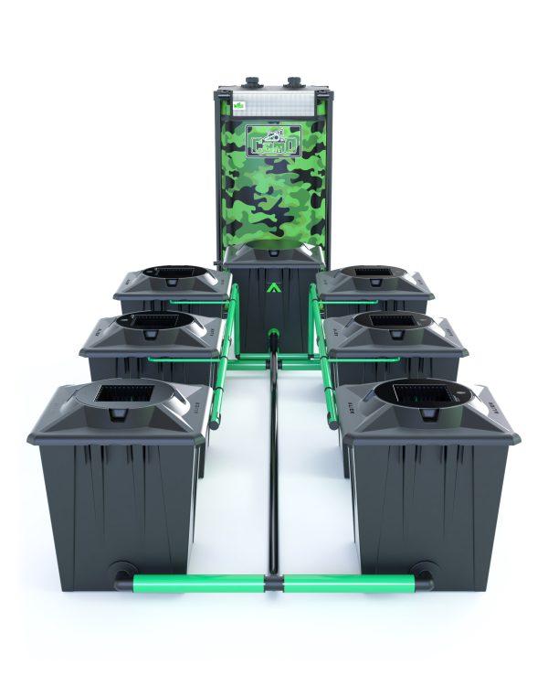 Alien Hydroponics – Rdwc 20L Black Series – 6 Bucket System