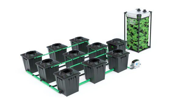 Alien Hydroponics – Rdwc 20L Black Series – 9 Bucket System