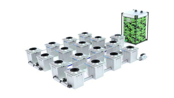 Alien Hydroponics – Rdwc 20L Pro Silver Series – 16 Bucket System