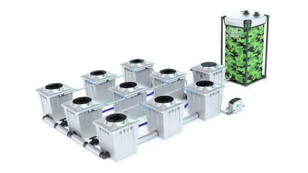 Alien Hydroponics – Rdwc 20L Pro Silver Series – 9 Bucket System