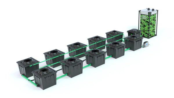 Alien Hydroponics – Rdwc 36L Black Series – 10 Bucket System
