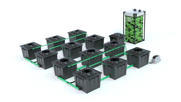 Alien Hydroponics – Rdwc 36L Black Series – 12 Bucket System