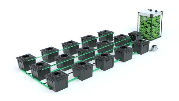 Alien Hydroponics – Rdwc 36L Black Series – 15 Bucket System