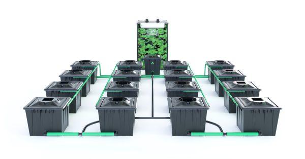 Alien Hydroponics – Rdwc 36L Black Series – 16 Bucket System