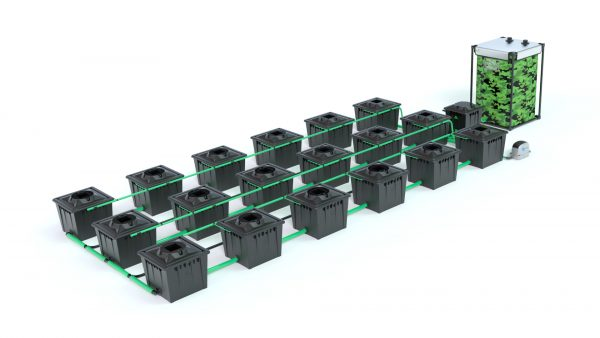 Alien Hydroponics – Rdwc 36L Black Series – 18 Bucket System
