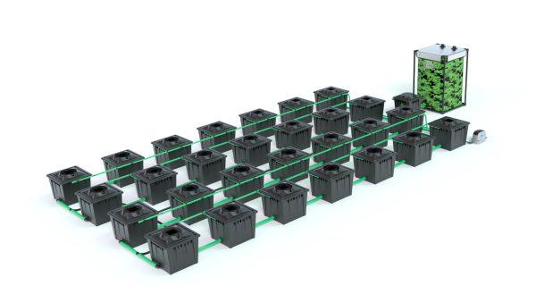 Alien Hydroponics – Rdwc 36L Black Series – 28 Bucket System