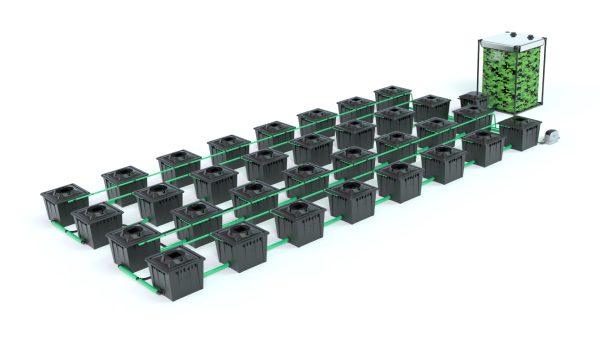 Alien Hydroponics – Rdwc 36L Black Series – 32 Bucket System