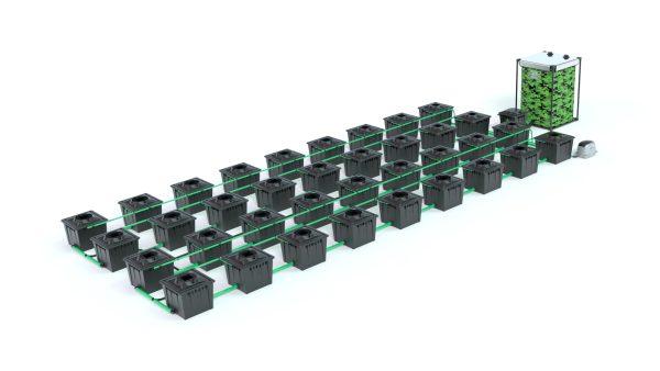 Alien Hydroponics – Rdwc 36L Black Series – 36 Bucket System