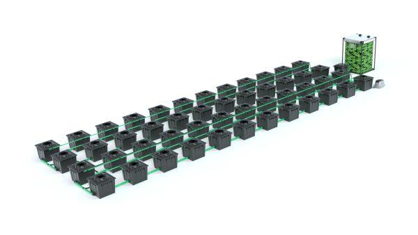 Alien Hydroponics – Rdwc 36L Black Series – 48 Bucket System