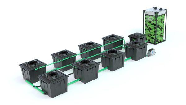 Alien Hydroponics – Rdwc 36L Black Series – 8 Bucket System