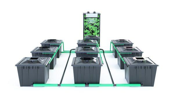 Alien Hydroponics – Rdwc 36L Black Series – 9 Bucket System