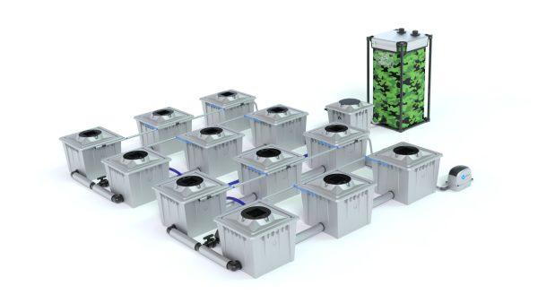 Alien Hydroponics – Rdwc 36L Pro Silver Series – 12 Bucket System