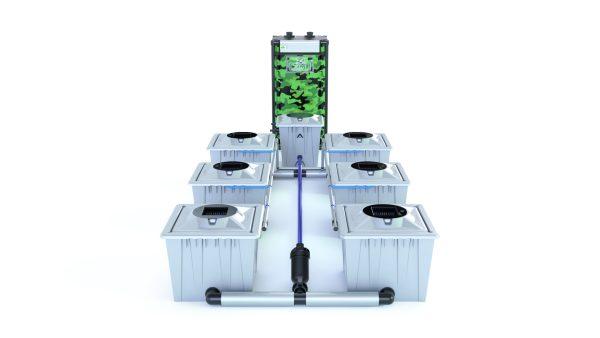 Alien Hydroponics – Rdwc 36L Pro Silver Series – 6 Bucket System