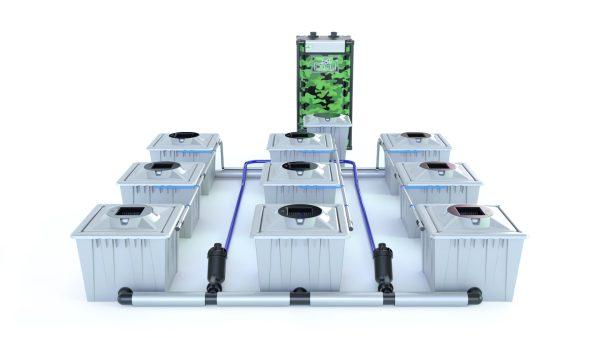Alien Hydroponics – Rdwc 36L Pro Silver Series – 9 Bucket System